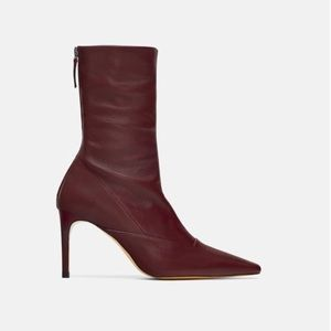Zara NEW leather booties